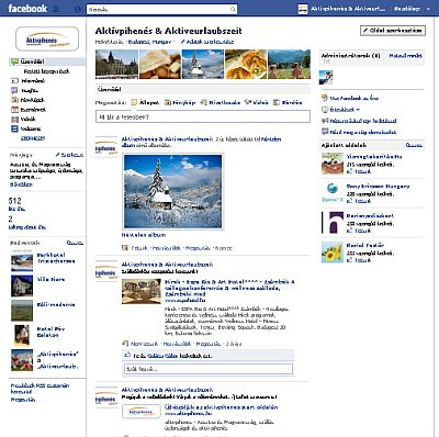 """Aktívpihenés"" & ""Aktiveurlaubszeit"" a Facebook-on"